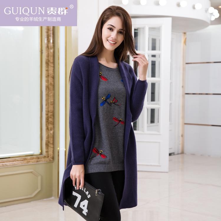 女士羊绒款式双面呢大衣长款外套图片GQ1578