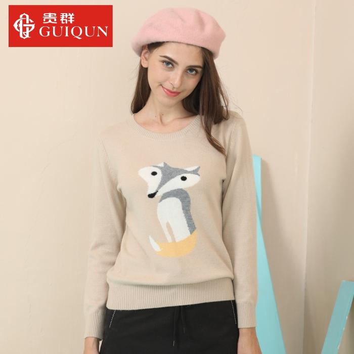 亚虎娱乐手机网页版_秋冬女士亚虎娱乐衫款式圆领毛衣针织衫图片