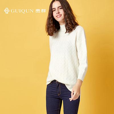 亚虎娱乐怎么样_秋冬女士半高领亚虎娱乐衫套头打底毛衣款式图片
