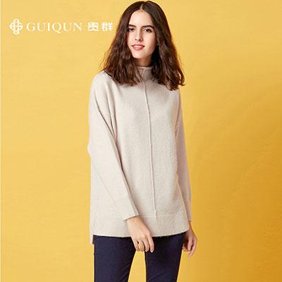 亚虎娱乐怎么样_秋冬半高领亚虎娱乐衫款式女士毛衣针织衫图片