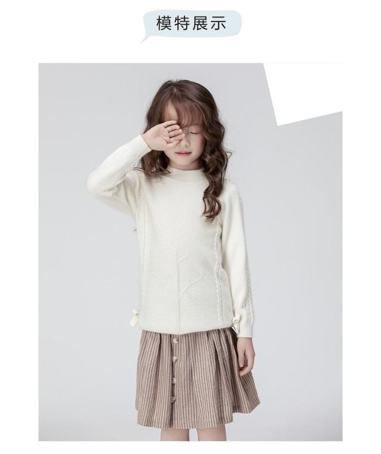 秋冬新款女童打底图片纯色乐动体育app咋样毛衣