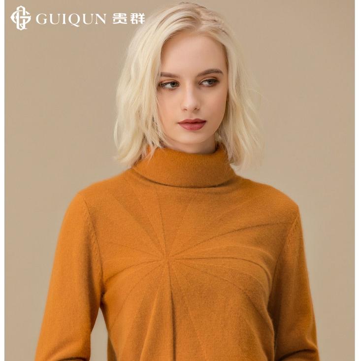 秋冬新款女士樽领万博手机端登录修身毛衣图片