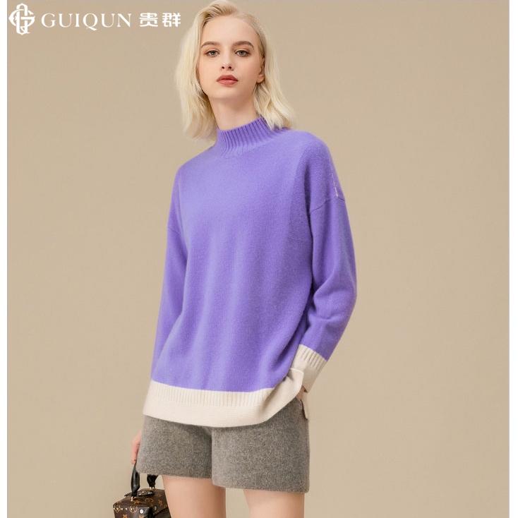 秋冬女士樽领万博手机端登录款式套衫毛衣图片