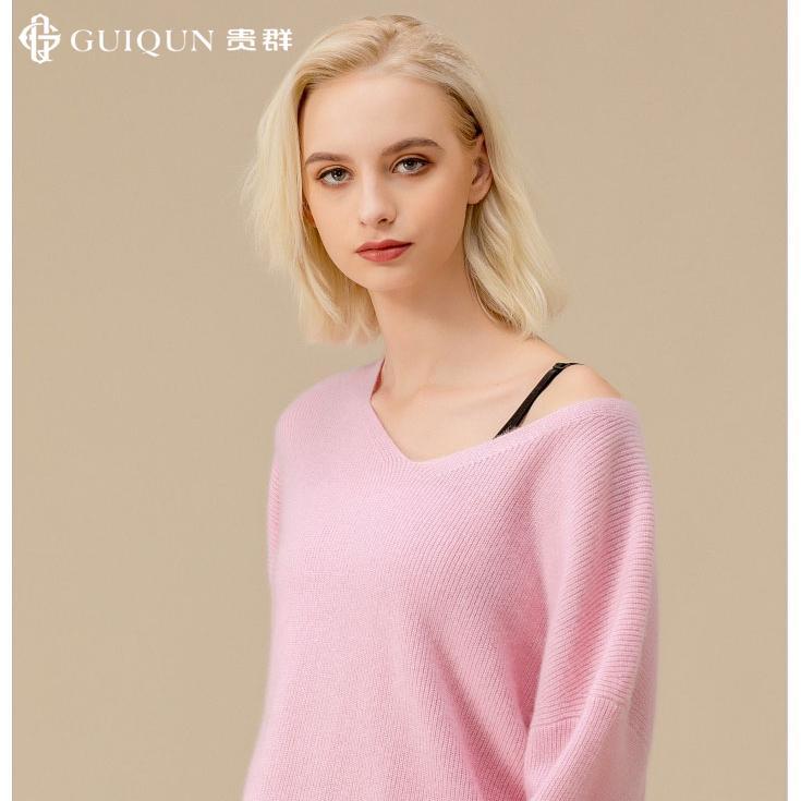 秋冬女士V领乐动体育app咋样款式套衫毛衣图片