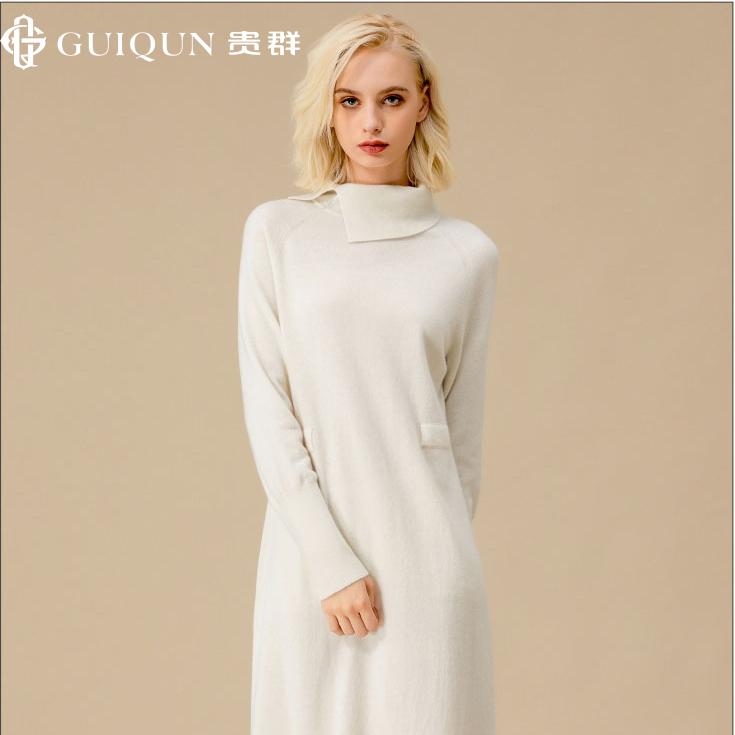 亚虎娱乐怎么样_秋冬女士樽领亚虎娱乐衫款式套衫连衣裙毛衣图片