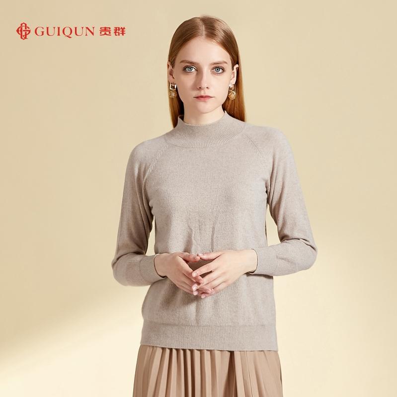 秋冬鄂尔多斯市万博手机端登录女士纯色短款毛衣图片GQ2624