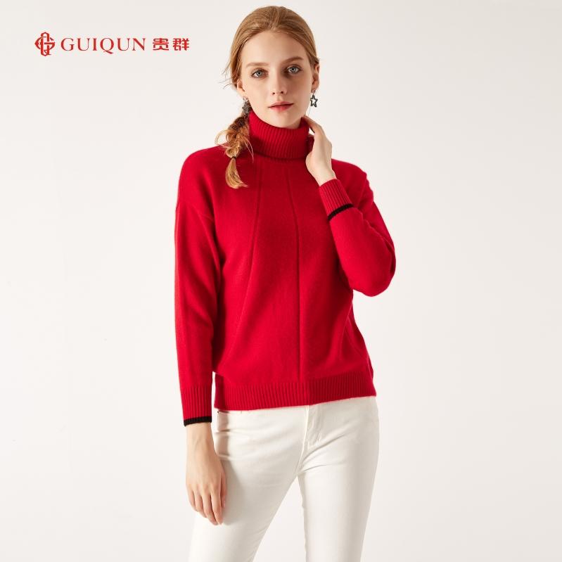秋冬鄂尔多斯市万博手机端登录女式新款打底红色图片GQ2652