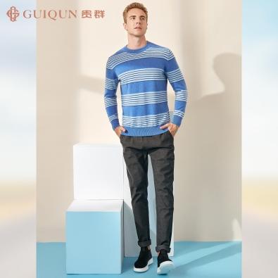 鄂尔多斯市乐动体育app咋样贵群秋冬男式毛衣简约款式GQ3217