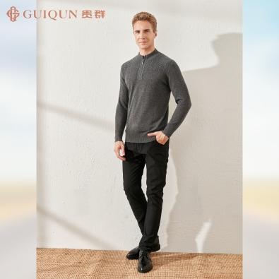 鄂尔多斯市乐动体育app咋样贵群秋冬男式毛衣简约款式GQ3246
